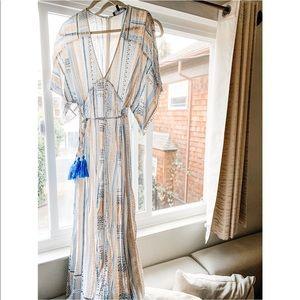 Blue Print Midi Dress